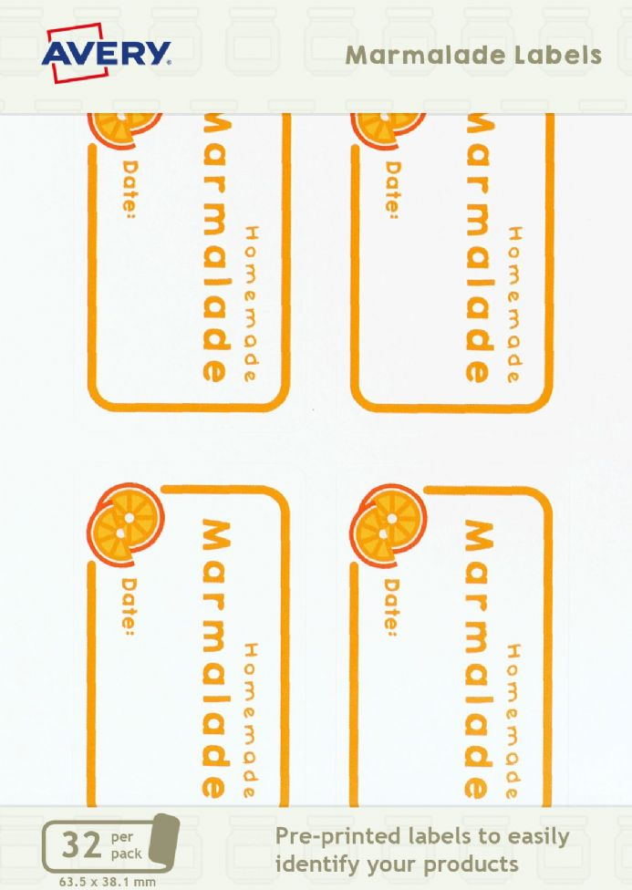 Marmalade Jar Labels